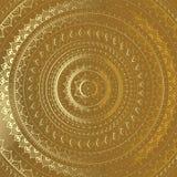 Gold Mandala. Indian decorative pattern. Stock Image