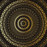 Gold Mandala. Indian decorative pattern. Royalty Free Stock Images