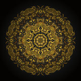 Gold mandala. In style of mayan calendar Royalty Free Stock Photography