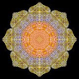 Gold Mandala texture with golden mosaics in the Byzantine style. Antique color Mosaic tiles in antique style. Cobblestone texture Stock Photography