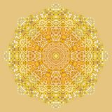 Gold Mandala texture with golden mosaics in the Byzantine style. Antique color Mosaic tiles in antique style. Cobblestone texture Royalty Free Stock Images
