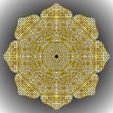 Gold Mandala texture with golden mosaics in the Byzantine style. Antique color Mosaic tiles in antique style. Cobblestone texture Stock Photo