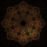 Gold mandala vector abstract design. Stock Photography