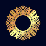 Gold mandalas. Indian wedding meditation. Royalty Free Stock Photography