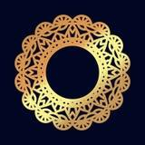 Gold mandalas. Indian wedding meditation. Royalty Free Stock Photo