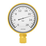 Gold_manometer_01 Foto de Stock Royalty Free