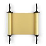 Gold manuscript Stock Image