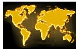 Gold map Royalty Free Stock Images