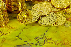 Gold Map Stock Photos