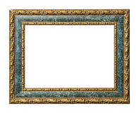Gold and marble picture frame with clipping path Royalty Free Stock Photos
