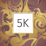 Gold Marble Vector Thanks Design Template for Network Friends and Followers. Thank you 5 K followers card. Image for Social Networ Royalty Free Stock Photos