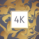 Gold Marble Vector Thanks Design Template for Network Friends and Followers. Thank you 4 K followers card. Image for Social Networ Royalty Free Stock Images