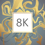 Gold Marble Vector Thanks Design Template for Network Friends and Followers. Thank you 8 K followers card. Image for Social Networ Stock Photography