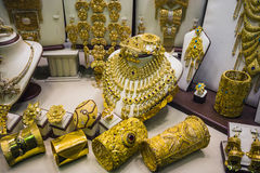 Gold market in Duba Stock Photos