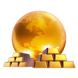 Gold marketing world business Stock Image
