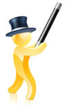 Gold mascot magician Royalty Free Stock Image