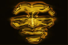 Gold mask. Generated in computer Royalty Free Stock Image