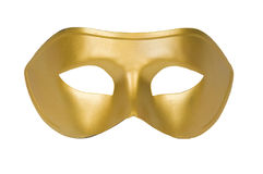 Gold Mask. Gold face mask on white background Stock Photography