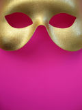 Gold Mask 3. A golden phantom mask royalty free stock images