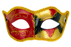Gold mask on a white background Royalty Free Stock Photography