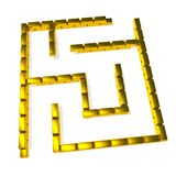 Gold maze Royalty Free Stock Photography