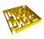 Gold maze Royalty Free Stock Photo