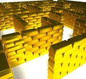 Gold maze Stock Photo