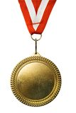 Gold Medal. Isolated on white Royalty Free Stock Photography