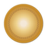 Gold medal. Blank gold medal for your design Stock Photos