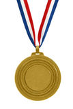 Gold medal. With ribbon isolated Stock Image