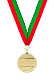 Gold medal. Isolated on white background Royalty Free Stock Photography