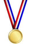 Gold medal. Vector illustration of gold medal Royalty Free Stock Photos