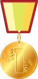Gold medal Royalty Free Stock Photo