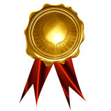 Gold medal. On a solid white background Stock Photo