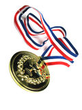 Gold medal. Picture of a gold medal tilted Stock Image