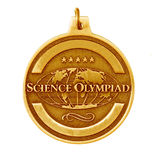 Gold medal. Single gold medal isolated on white background Royalty Free Stock Image