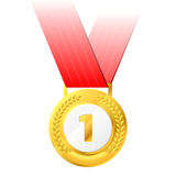 Gold medal. Vector illustration of a gold medal Royalty Free Stock Photography