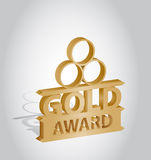 Gold medal award Royalty Free Stock Photography