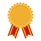 Gold Medal Award Flat Icon on White Stock Photography