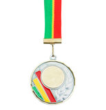 Gold medal awarded for a better job. Royalty Free Stock Image