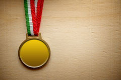 Gold medal blank Royalty Free Stock Photos