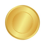 Gold Medal for the champion in the first place. Icon, vector ill. Ustration Royalty Free Stock Photography