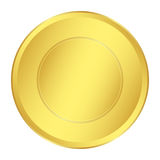 Gold Medal for the champion in the first place. Icon, vector. Illustration Royalty Free Stock Image