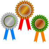 Gold medal: champion medal. West gold medals: champion medals Royalty Free Stock Photo
