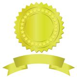 Gold medal. Colorful illustration with gold medal for your design Stock Image