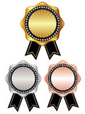 Gold medal frame Stock Photos