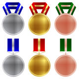 Gold medal frame Royalty Free Stock Photos
