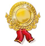 Gold medal. And decorative element Royalty Free Stock Photos