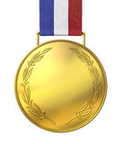 Gold medal of honour. Blank gold medal of honour Stock Images