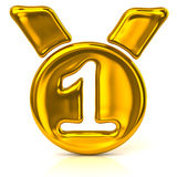 Gold medal icon Royalty Free Stock Image